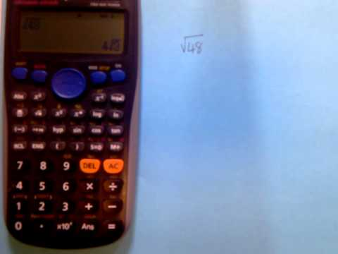 Surds On Your Calculator Youtube