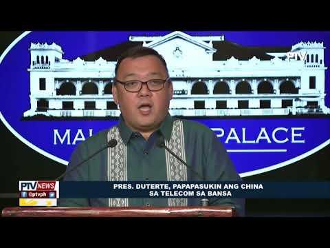 Pangulong Duterte, papapasukin ang China sa telecom sa bansa