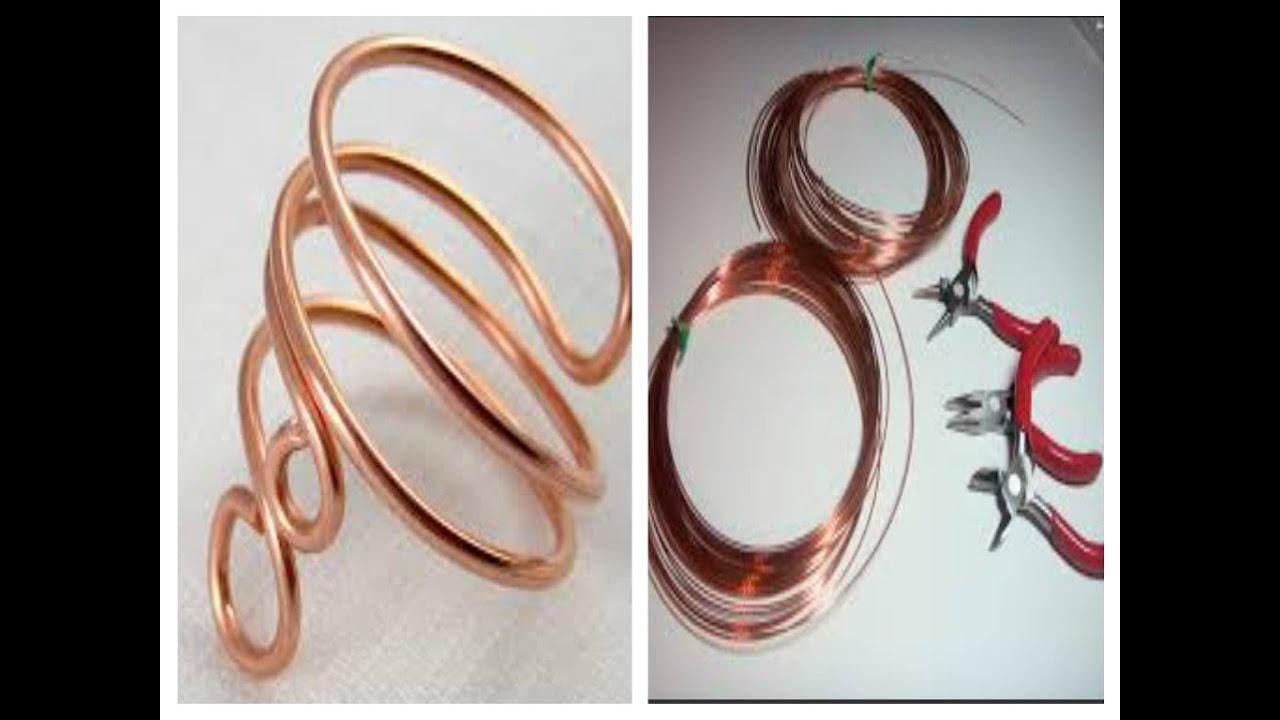 1a6bbc49c632e تعليم الاكسسوارات للبنات .. خاتم العقله النحاسDIY... Copper wire ring