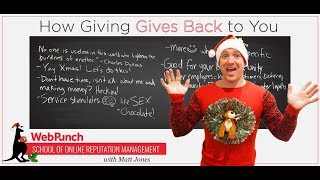 How Giving Gives Back to You