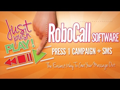 Robocall Software Press 1 Campaign With Voice Broadcasting