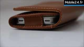 PDair housse portefeuille en cuir pour iPhone 5