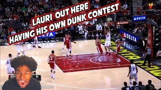 LAURI MARKKANEN DUNKING ALL ON THE HAWKS!! 19 PTS & PLENTY OF DUNKS! BULLS VS HAWKS HIGHLIGHTS!
