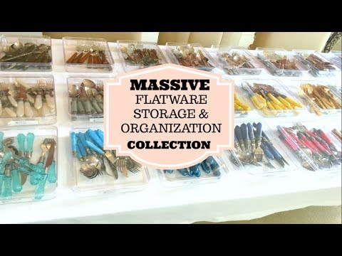 ORGANIZED KITCHEN TOUR: How to organize and store massive flatware collection