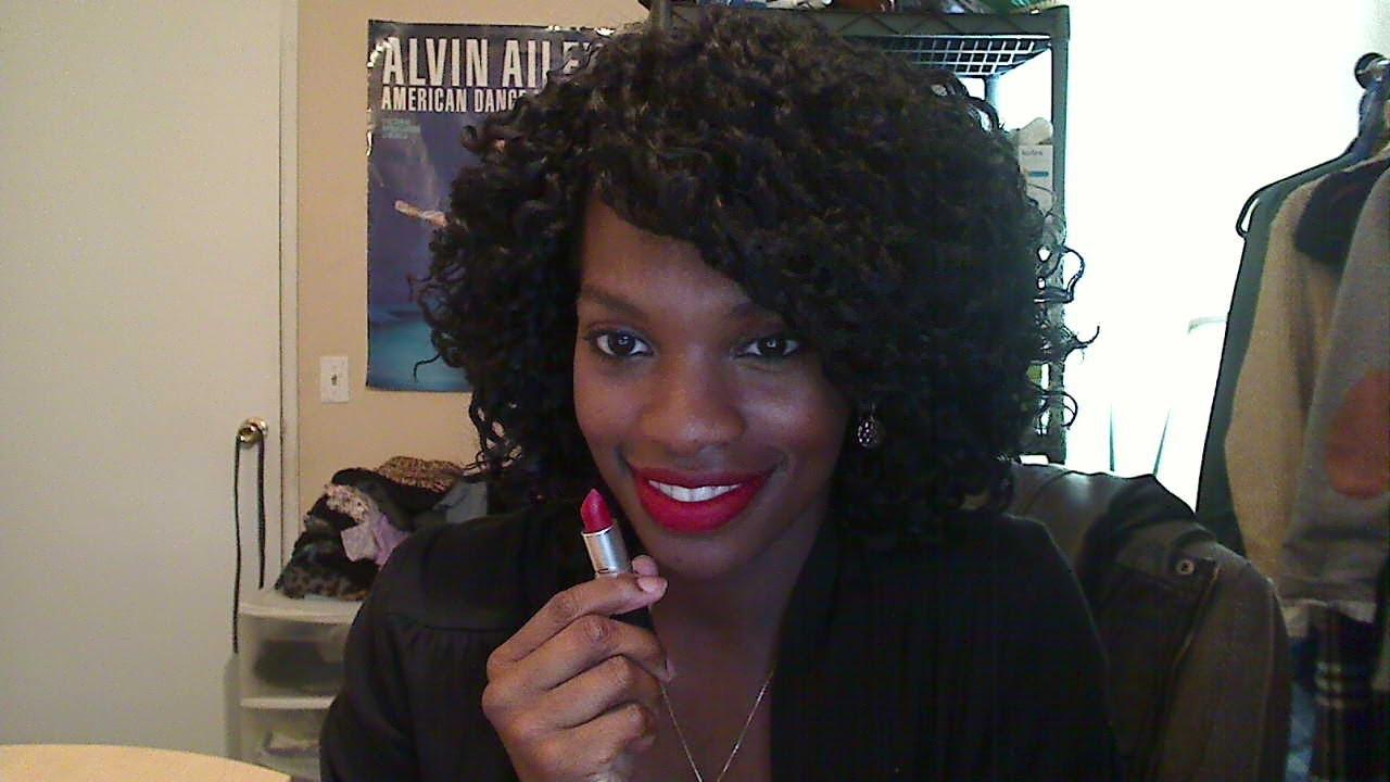Lip Tease: Ruby Woo (MAC) lipstick - YouTube Mac Please Me Dark Skin