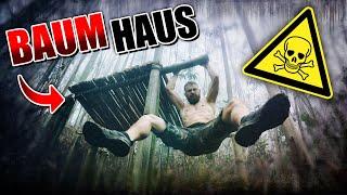 BAUMHAUS im Dschungel bauen #001 - Unge Survival Challenge - Bushcraft Camp | Fritz Meinecke