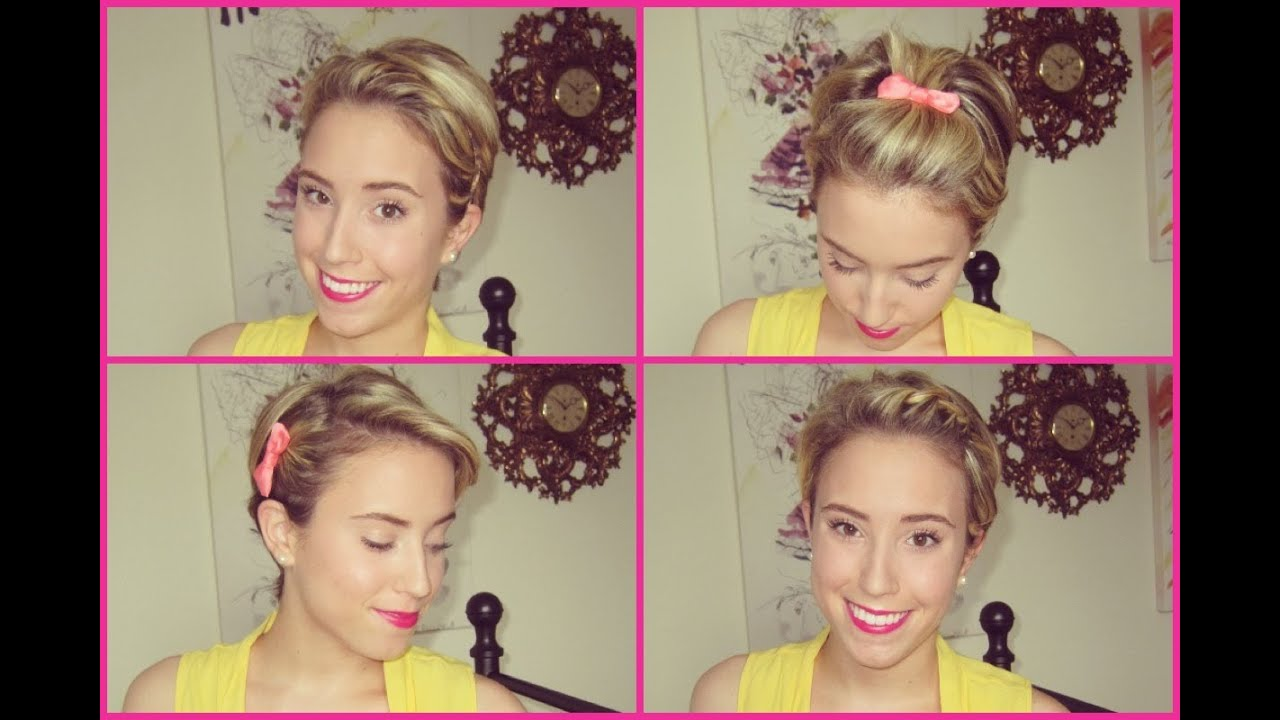 Different Ways To Style Short Hair 4 Easy Ways To Style A Pixie  Youtube