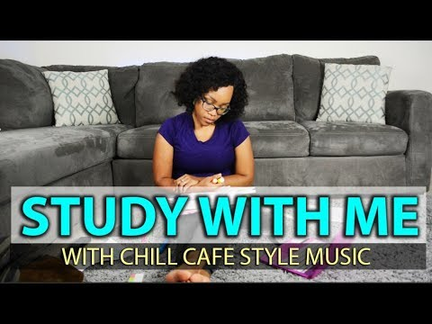 Study with Me - (Real Time w/ Chill Cafe Style Music)