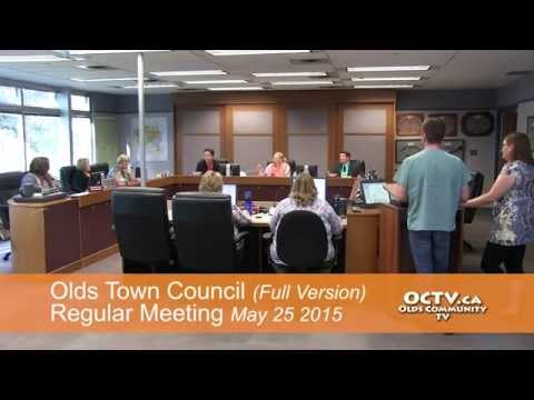 Olds Town Council May 25 2015 (Full Meeting)