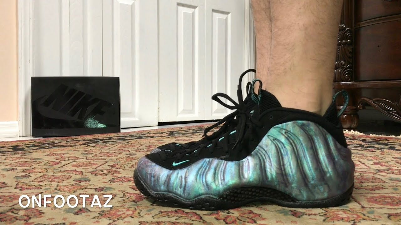 722010735f0b0c Nike Air Foamposite One Abalone On Foot - YouTube