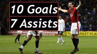Darron Gibson / 10 Goals and 7 Assists for Manchester United