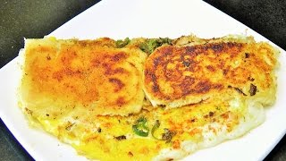 ब्रेड ऑमलेट  | Bread Omelette By madhurasrecipe | Disco Egg Fry | Easy Bachelors Recipe