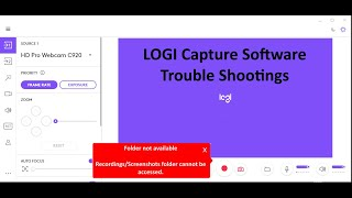 Download Logi Capture Error - Folder cannot be accessed.