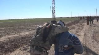 استقبال أهالي منطقة الشدادي لقوات سوريا الديمقراطية (QSD)