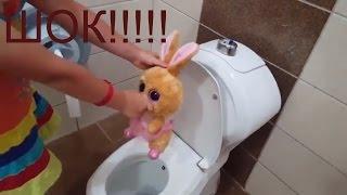 Влог Обзор детского унитаза Настоящий игрушечный унитаз-горшок для кукол Детский санузел