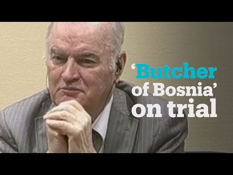 Former Serbian commander Ratko Mladic's on trial