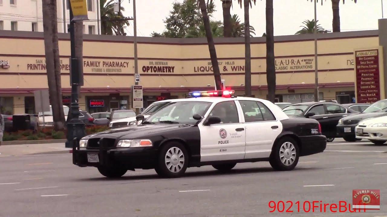 Lapd Crown Victoria Responding Code 3 Youtube