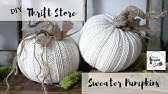 Thrift Store/Dollar Tree Sweater Pumpkins