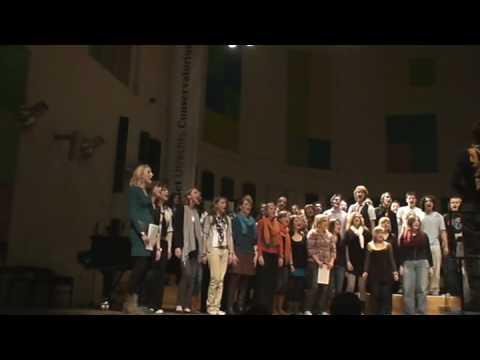 Lek en Linge in koor Conservatorium Utrecht - Zuid Afrikaans volksliedje
