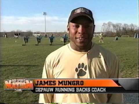 2009 - Former Indianapolis Colt James Mungro is Assistant Coach at DePauw University