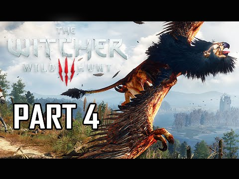 The Witcher 3: Wild Hunt Walkthrough Part 4 - Griffin Boss (PS4 Lets Play Gameplay Commentary)