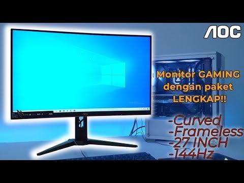 Review AOC CG27G1 Monitor Gaming dengan Paket LENGKAP!