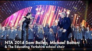 Sam Bailey & Michael Bolton Open the show at the NTAs 2014