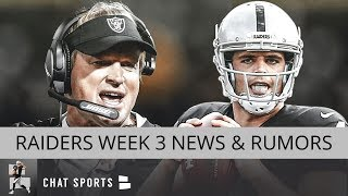 Oakland Raiders Rumors: Jon Gruden Press Conference, Week 3 News & Week 2 Stock Up Stock Down
