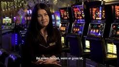 Arbeiten im Casino - Kassierin