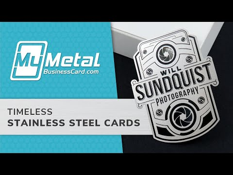 Stainless Steel Metal Business Cards | My Metal Business Card