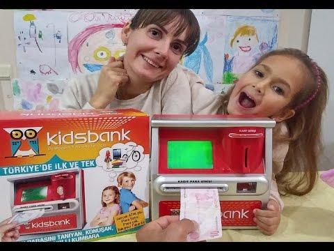 Banka ATM gibi kumbara bu oyuncak bir harika , eğlenceli çocuk videosu, toys unboxing