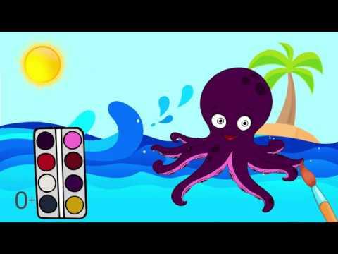 Мультик раскраска. Детские онлайн раскраски Морские ...