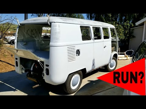 First start in 32 years and First Drive Will it Run again?  VW bus Westfalia