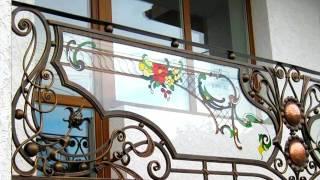 видео Кованые решетки на балконы модерн