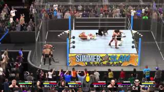 WWE 2K15 Gameplay on PS4: 6 Man Hell in a Cell Match