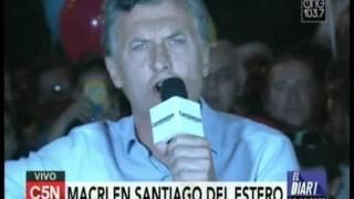 C5N - Eleccion 2015: Mauricio Macri en Santiago Del Estero