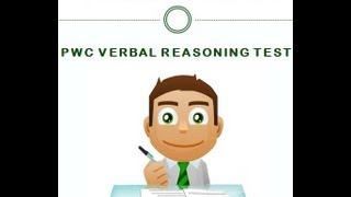 pwc verbal reasoning test guidance to pass at first attempt