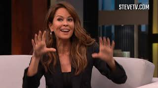 Brooke Burke-Charvet Talks Booty Burn & Brings Steve A Cute Message