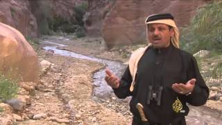 شلالات  المشلشلة في الطفيلة جنوبي الأردن
