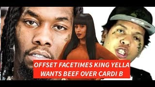 Offset Migos WANTS BEEF with King Yella Over Him Smashing Cardi B First and Exposing THE TRUTH