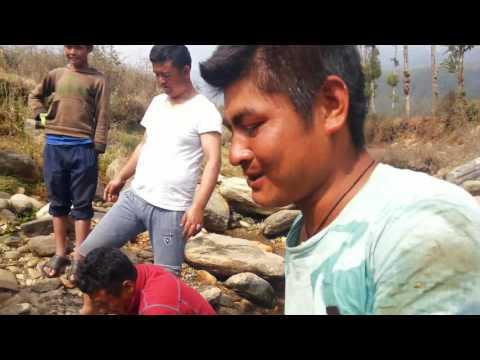 Fishing in Jiri river near Airport (जिरीको खोलामा कति धेरै माछा मारेको? हेर्नुहोस)