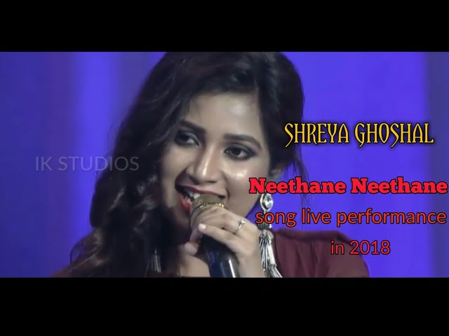 Neethane neethane song | shreya ghoshal live performance | 2018