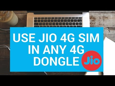 How To Use Jio 4G Sim In Any 4G Dongle By Star Guruji