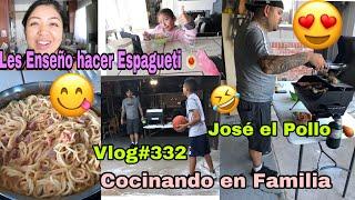 Les Enseño Hacer Espagueti Mexicano 😋🍝/ José El Pollo 🍗 Un día en Nuestra Vida - Vlogs Diarios