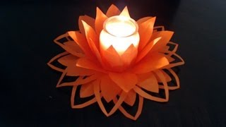 Part Ii Slower Version Of Easy Paper Flower Candle Decoration (full Video Link In Description Box)