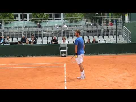 Benoît Paire's practice session at RG13