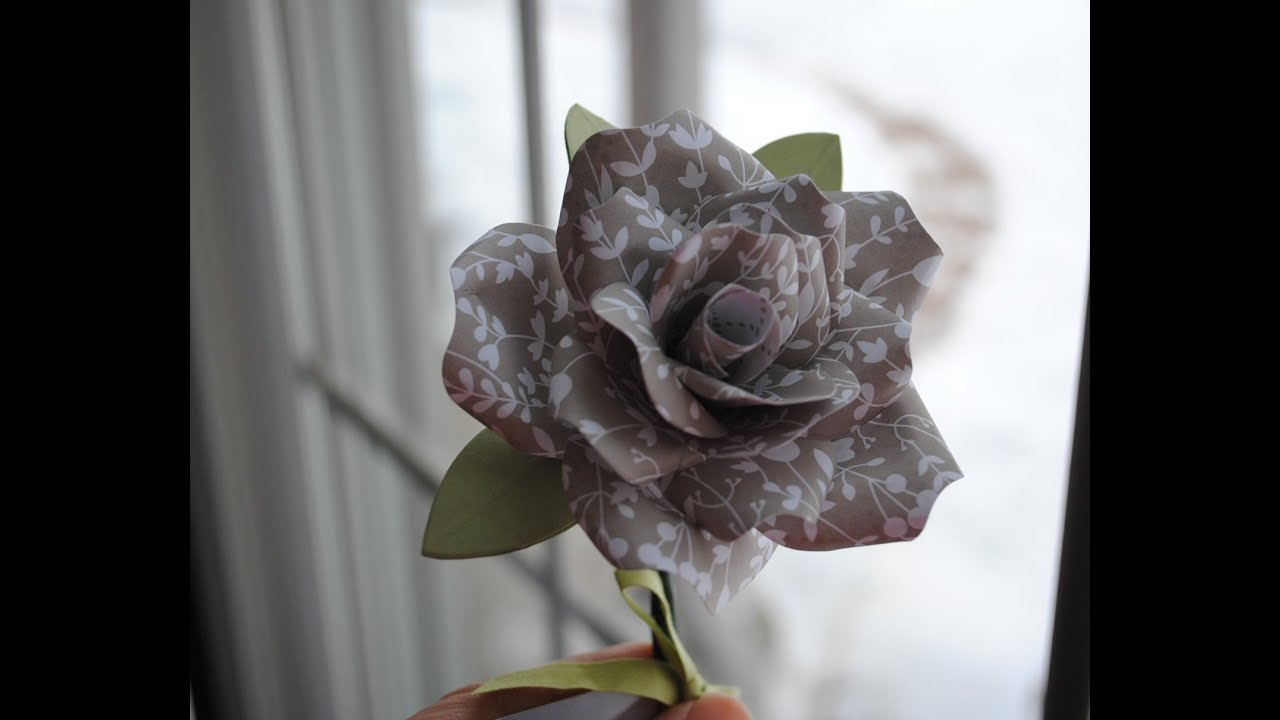 Stampin up paper rose with bouquet bigz l die youtube mightylinksfo Choice Image