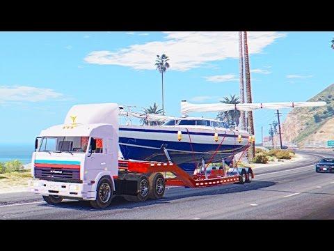 Везу Украденную Яхту Майкла - Дальнобойщики в GTA 5