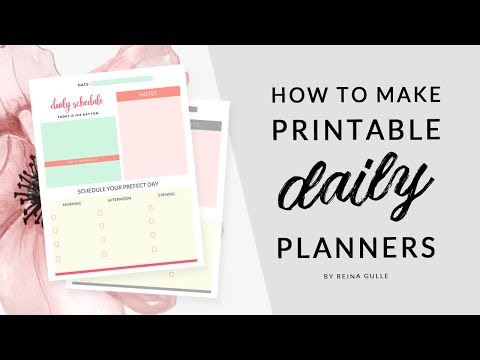 How to Make Printable Daily Planner in Photoshop | FREE DOWNLOAD 💛Easy Tutorials with Reina