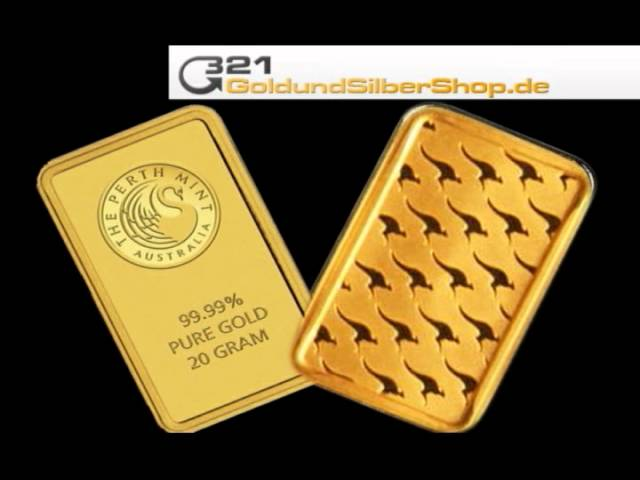 20 g Goldbarren, Perth Mint, 20g 20 Gramm (321goldundsilbershop.de)